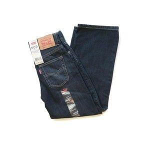 Levi's 505 Dark Denim Blue Jeans Straight Leg 7R